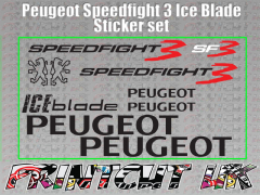 Peugeot speedfight 3 ICE BLADE Decals/Stickers SF3 iceblade